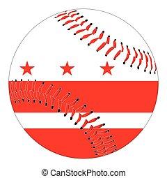 Washington DC Flag Baseball