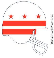 Washington DC Flag Football Helmet - The flag of the...