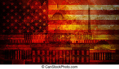 Washington DC Grunge Texture US Flag Illustration