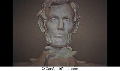 Washington DC Lincoln Memorial Statue