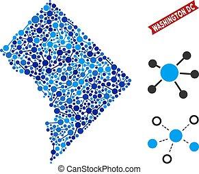 Washington DC Map Links Composition