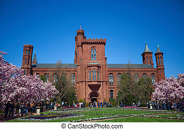 Smithsonian Institution Building - WASHINGTON, DC - March...