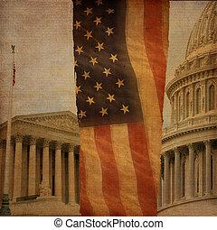 Washington DC Montage - A montage including the Supreme...