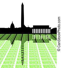 Washington DC Skyline with text