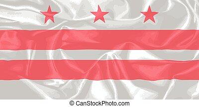 Washington DC State Silk Flag