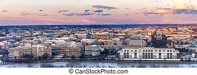 Washington DC sunset