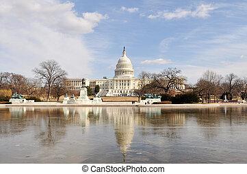 Washington DC United States Capitol in Winter