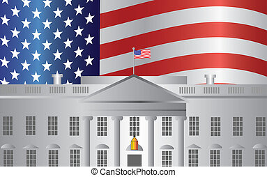 Washington DC White House US Flag Background - Washington DC...