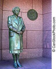 Eleanor Roosevelt sculpture at the Roosevelt Memorial in Washington DC