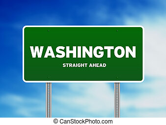 Washington Highway Sign - Green Washington, USA highway sign...