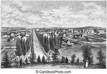 Washington in 1800 - Washington DC in 1800. Engraving image...