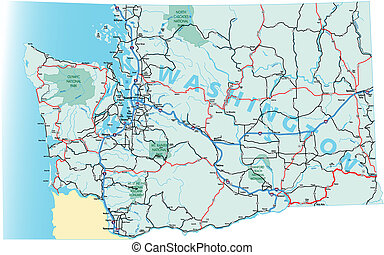 Washington Interstate Highway Map - Washington state highway...