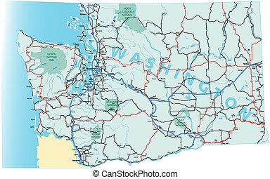 Washington Interstate Highway Map