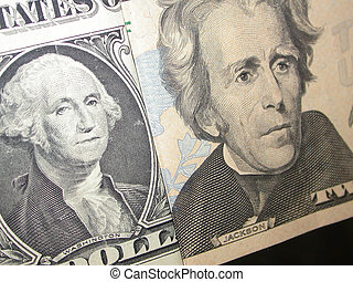 Washington Jackson - a close up of George Washington and...