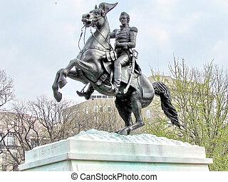 Washington Lafayette Park Andrew Jackson Monument 2011