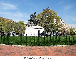 Washington Lafayette Park Jackson Memorial 2010
