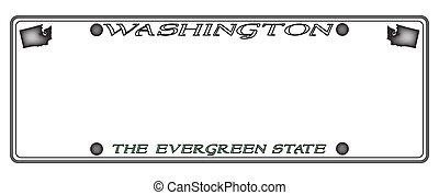 Washington License Plate - A Washington state license plate...