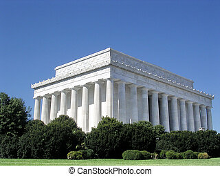 washington, lincoln, memorial nacional, outubro, 2004