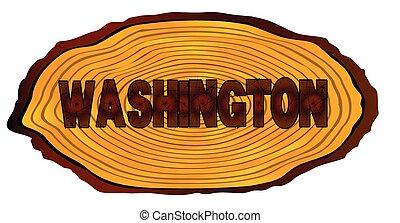 Washington Log Sign