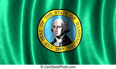 Washington looping flag animated background