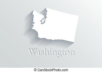 Washington map logo