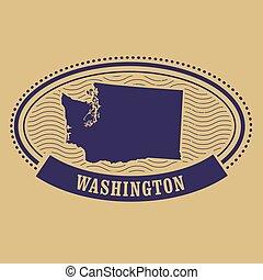 Washington map silhouette