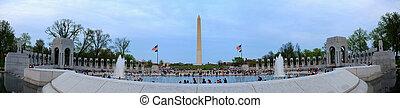 Washington monument panorama, Washington DC.