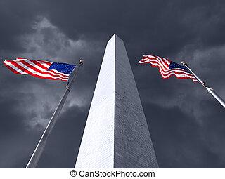 Washington Monument Storm
