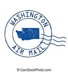 Washington post office, air mail stamp