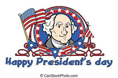 washington, presidentes, -, george, día
