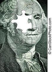 Washington puzzle - USA president puzzle(no left eye,made...