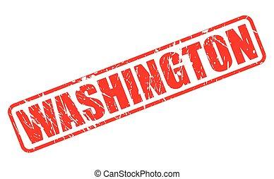 WASHINGTON red stamp text