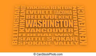 Washington state cities list