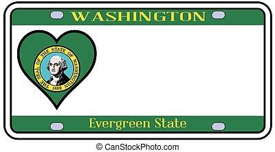 Washington State License Plate - Washington state license...