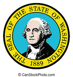 Washington State Seal - The seal of the state of Washington ...