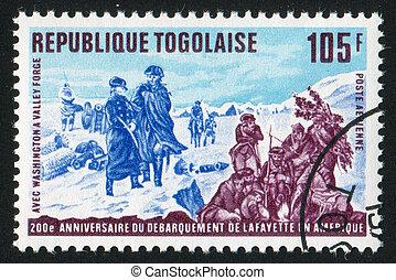 Washington - TOGO - CIRCA 1977: stamp printed by Togo, shows...