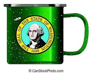 Washington Tin Cup