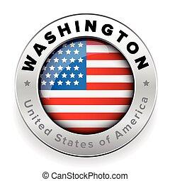 Washington Usa steel button