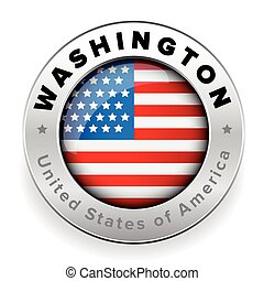 Washington Usa steel button