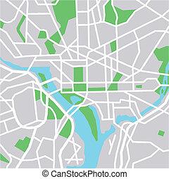 washington - vector map of Washington DC.