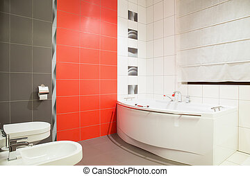Washroom in contemporary design - Picture of washroom ...