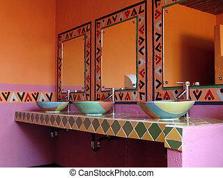 Washroom - Mexican inspired washroom