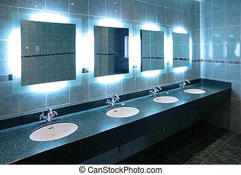 washstands, en, servicio público
