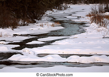 Waskesui River in winter