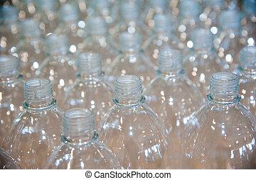 wasmiddel, vloeistof, gieten, fles