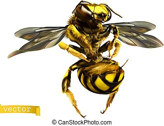 wasp., 3d, 現実的, ベクトル