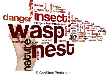 Wasp nest word cloud concept