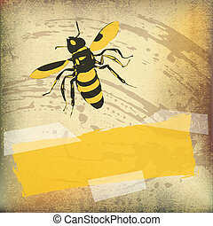 Wasp Paper Vector Background