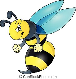 Wasp theme image 1 - eps10 vector illustration.