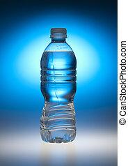 wasser, blaues, flasche